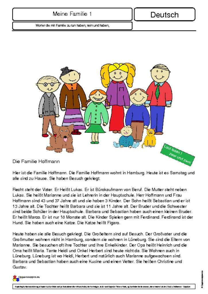 thumbnail of Die Familie 1 – Opgavemappen.nu