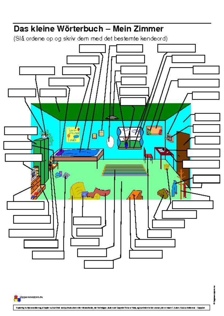 thumbnail of Mein Zimmer – Wörterbuch – selber ausfüllen – Opgavemappen.nu
