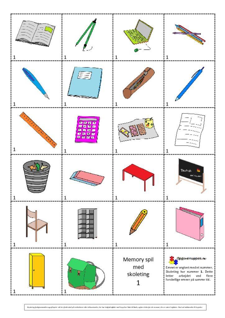 thumbnail of Wörterbuch – memory – klassenzimmer Opgavemappen.nu