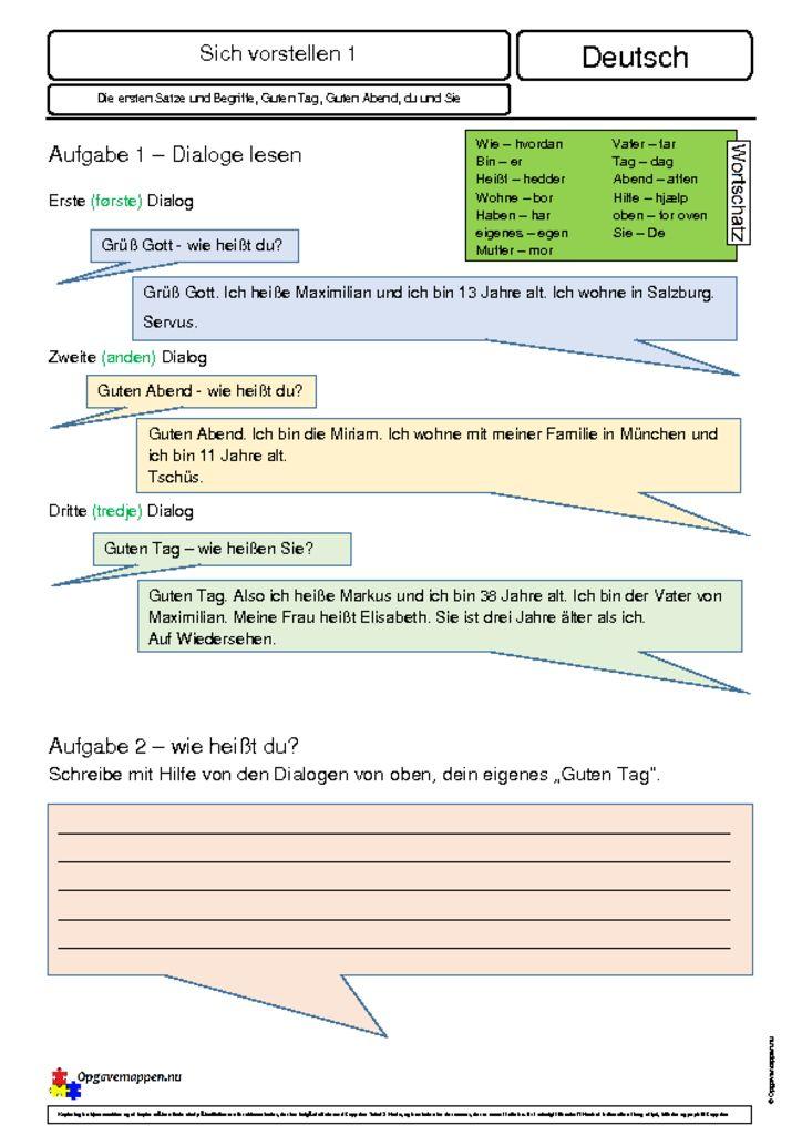thumbnail of sich vorstellen 1v2 – dialoge lesen – Fragen dazu – Opgavemappen.nu