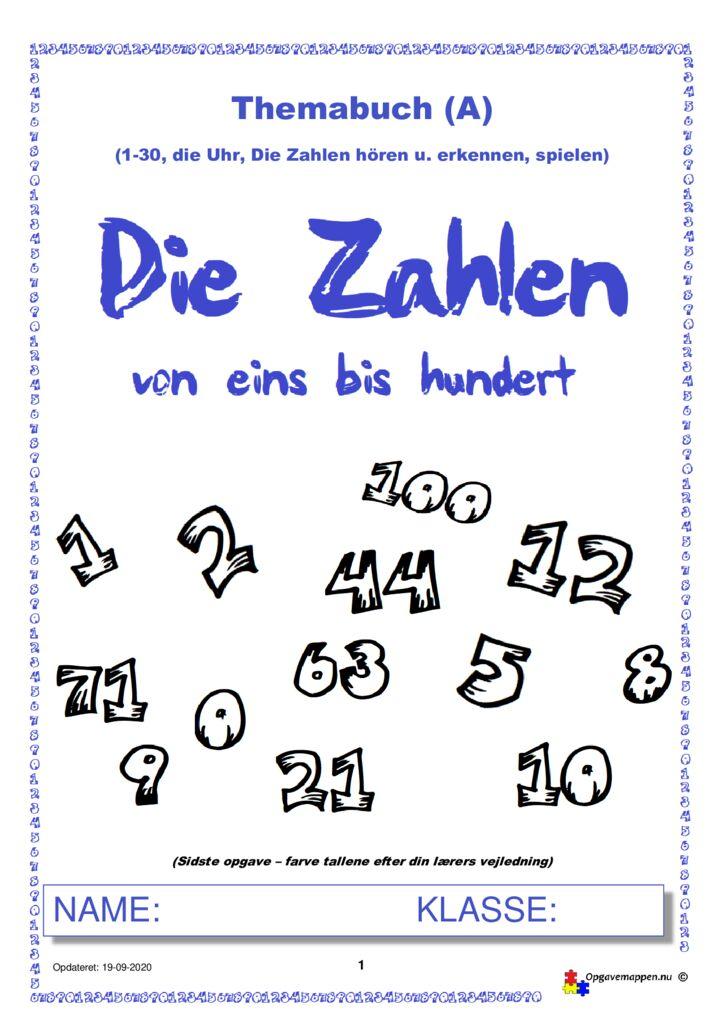 thumbnail of Tysk – Die Zahlen von 1-100 – Heft A – 3.0 – Opgavemappen.NU