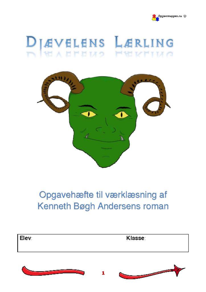 thumbnail of Djævelens Lærling – Opgaver – Værklæsning – Kenneth Bøgh Andersen – opgavemappen.nu