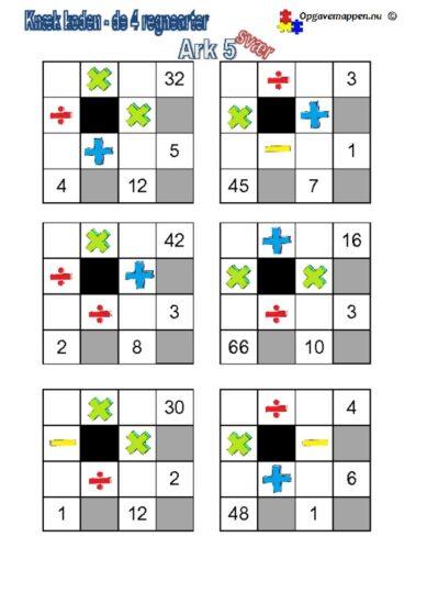 thumbnail of Matematik_knæk_koden_4_regnearter5_svær