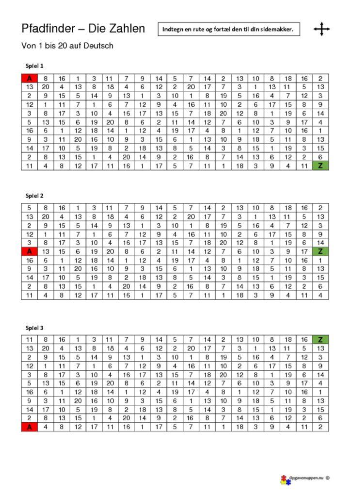 thumbnail of die Zahlen – Pfadfinder – opgavemappen.nu