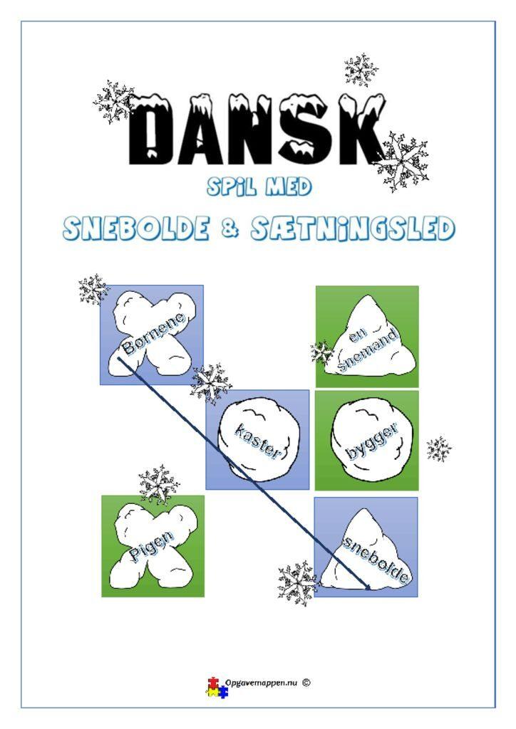 thumbnail of Dansk Tema Spil Snebolde & Led – jule vinter opgave