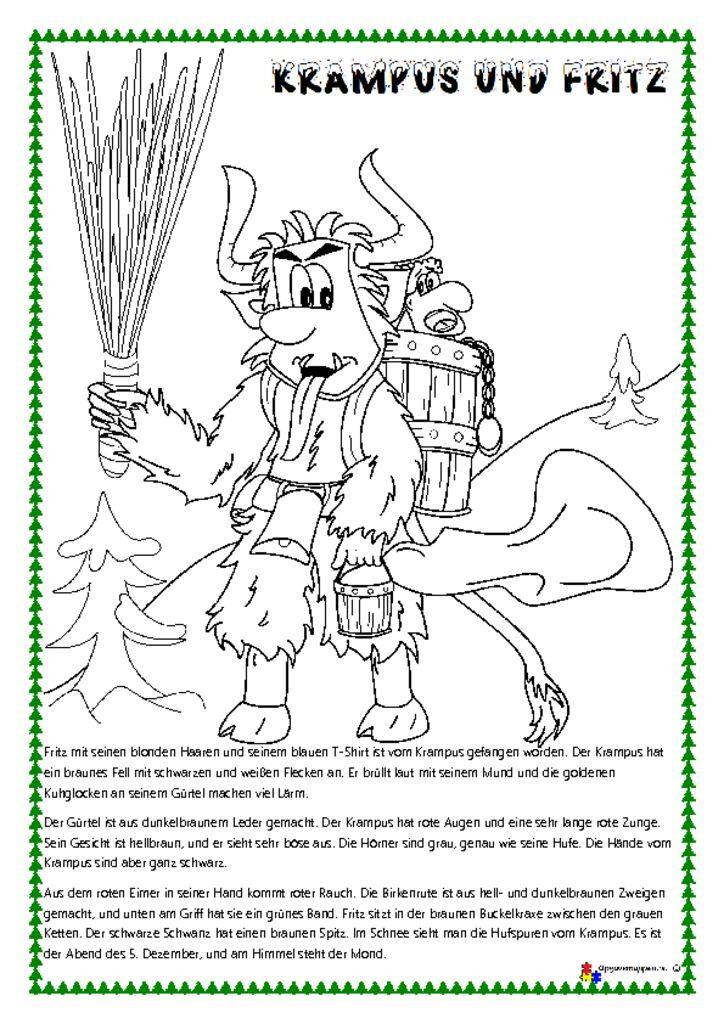 thumbnail of Tysk – læs, tegn og mal 4 – jul – lesen und malen – krampus -opgavemappen.nu