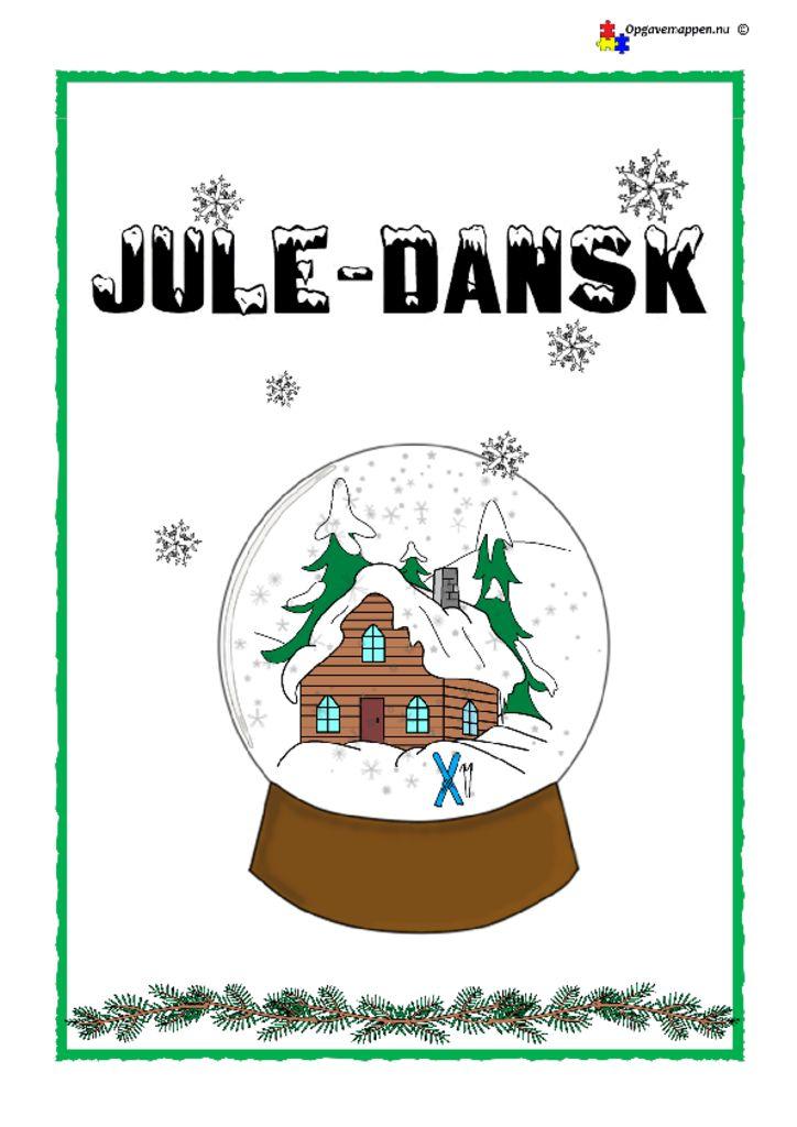 thumbnail of Dansk – Tema Jul – 7 sider med opgaver – opgavemappen.nu 1.0