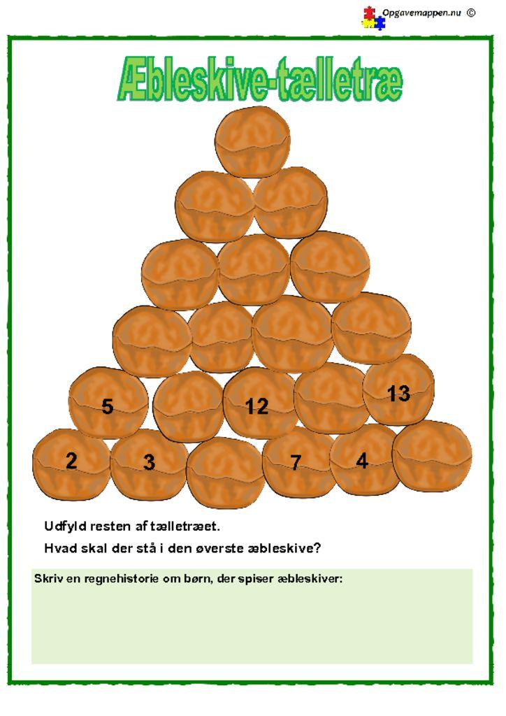 thumbnail of Matematik -jul – æbleskive -tælletræ – opgavemappen.nu