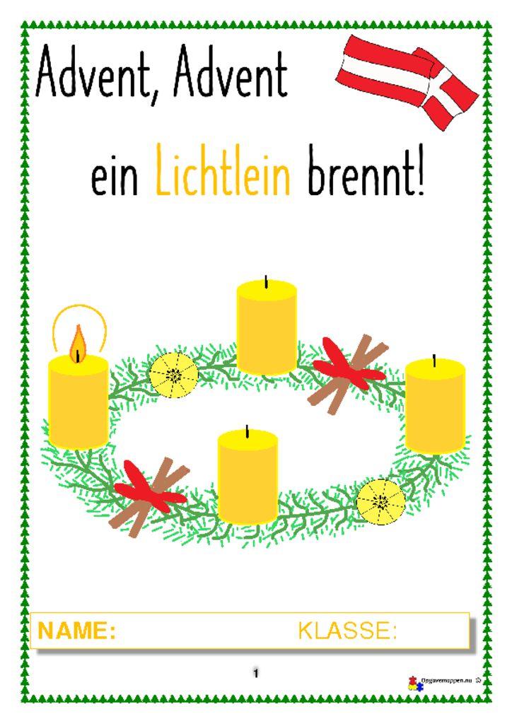 thumbnail of Tysk – Jul – advent advent – 8 sider – Themaheft – weihnachten – Österreich – DaF – opgavemappen.nu 2.4