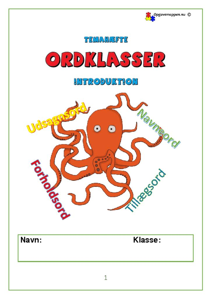 thumbnail of Dansk_Tema_Ordklasser_introduktion