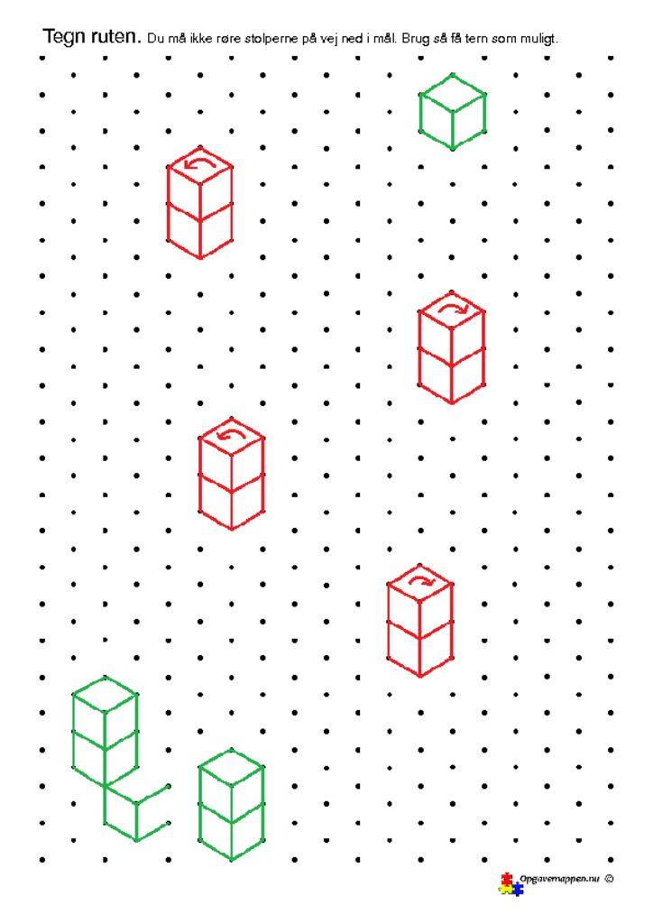 thumbnail of Matematik – skiløb – 1 – isometriske figurer – opgavemappen.nu