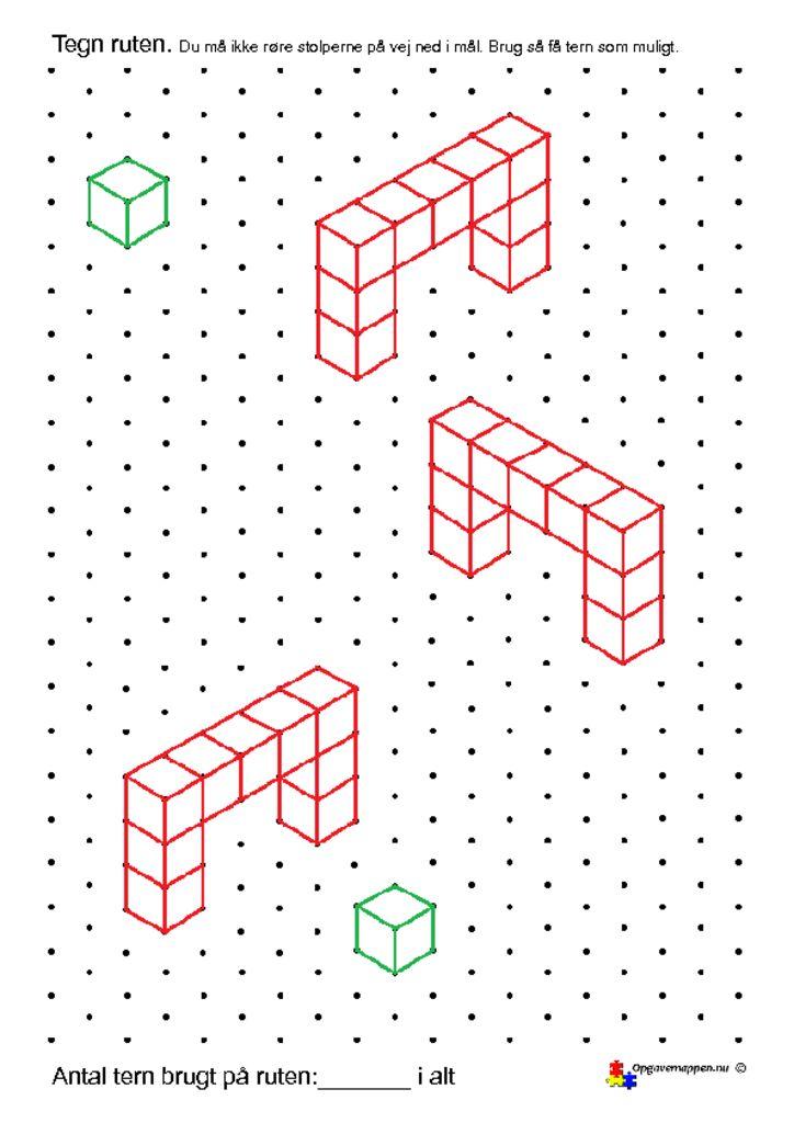 thumbnail of Matematik – skiløb – 2 – isometriske figurer – opgavemappen.nu