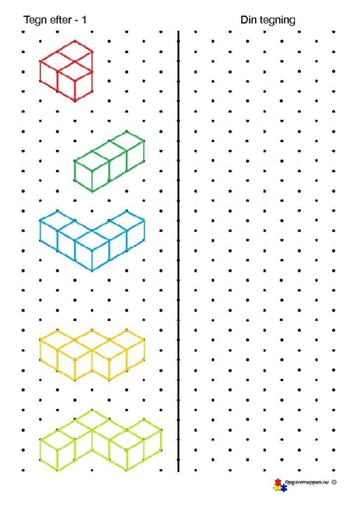 thumbnail of tegn efter – 1 – isometriske figurer – opgavemappen.nu