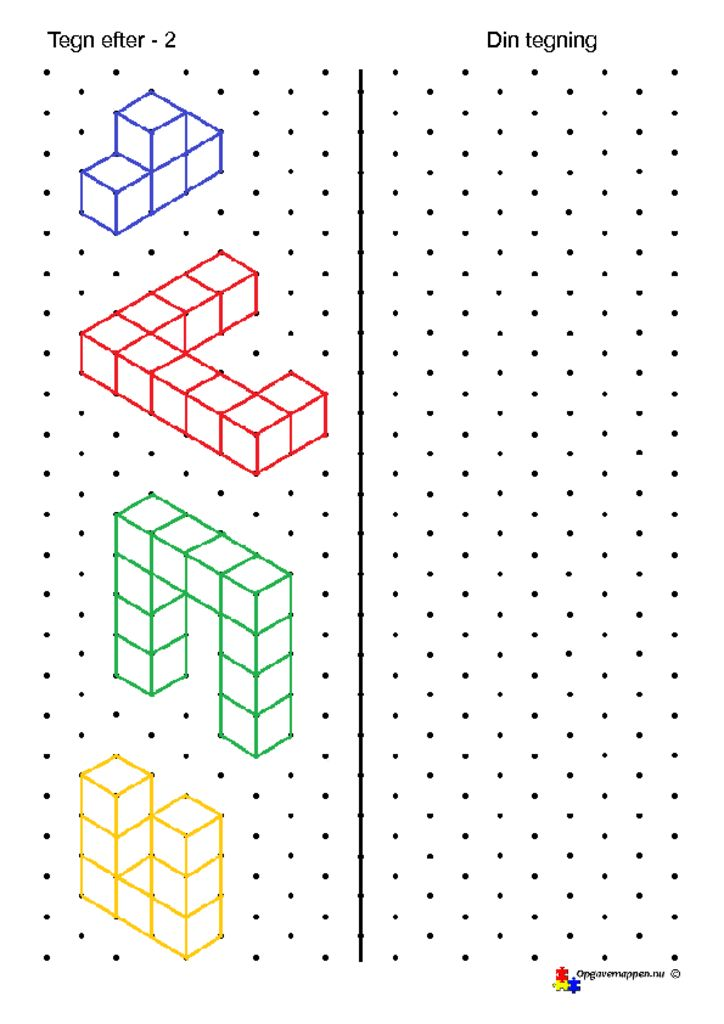 thumbnail of tegn efter – 2 – isometriske figurer – opgavemappen.nu