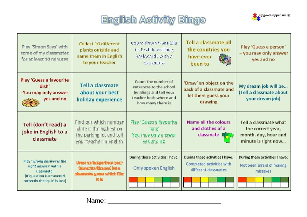 thumbnail of English-Activity-Bingo-1