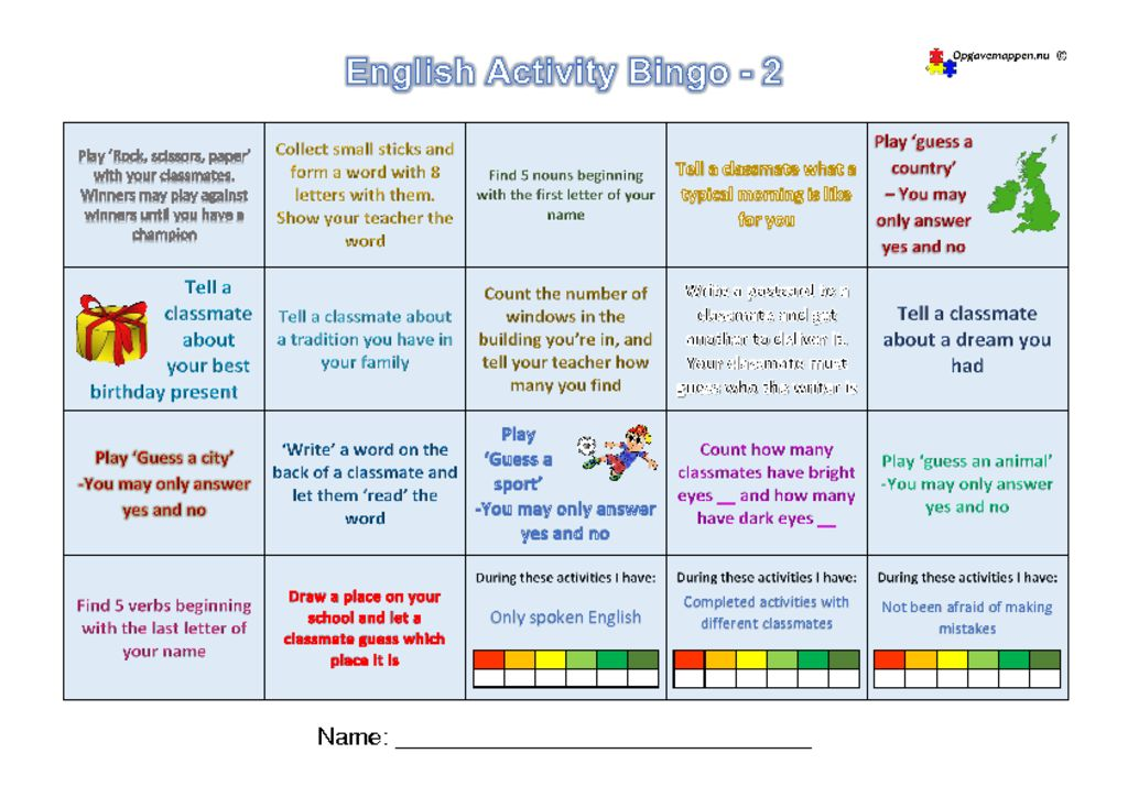 thumbnail of English-Activity-Bingo-2