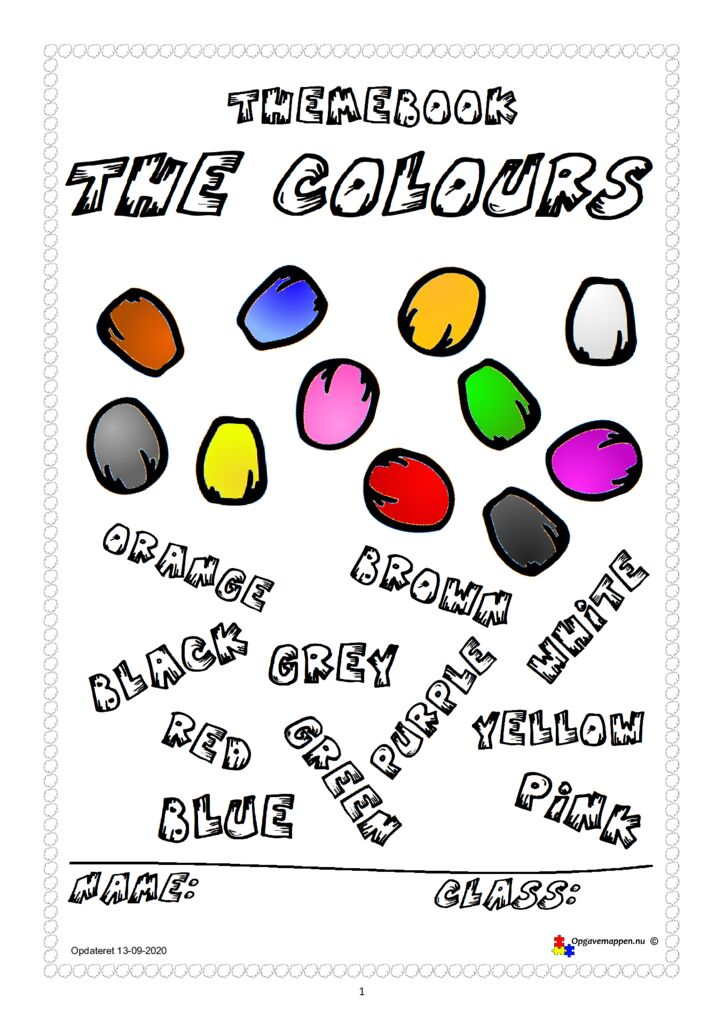 thumbnail of Engelsk – The Colours – version 1.1 – 13-09-2020 opgavemappen.nu