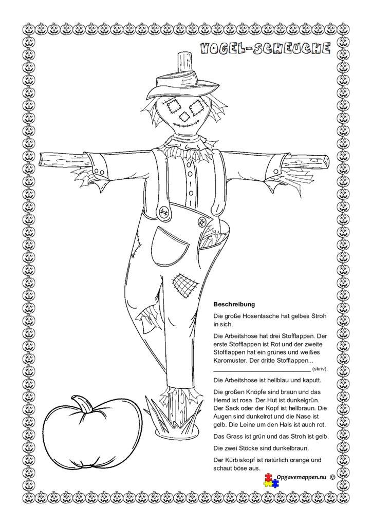 thumbnail of Halloween – vogelscheuche – zeichnen nach einer beschreibung – opgavemappen.nu