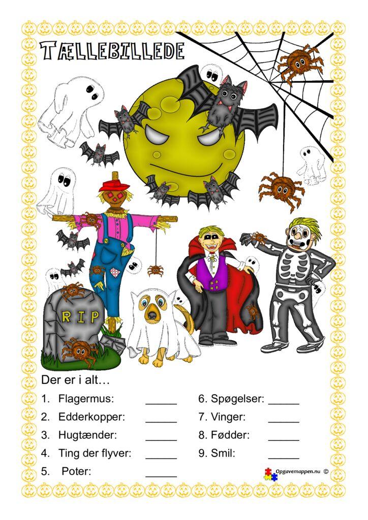 thumbnail of Matematik – Halloween – tællebillede 1.1 – opgavemappen.nu