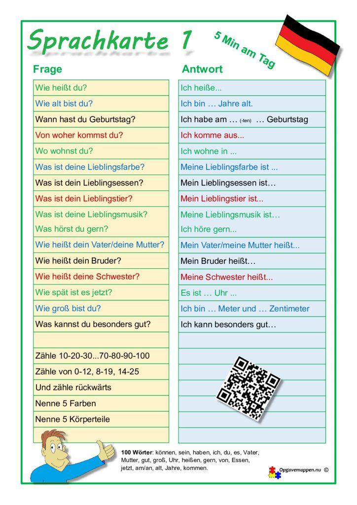 thumbnail of Tysk – Sprachkarte 1 – opgavemappen.nu