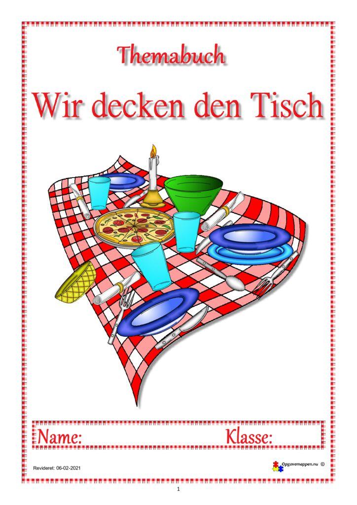 thumbnail of tysk – Wir decken den Tisch – themaheft – 16 sider – opgavemappen.nu 1.2