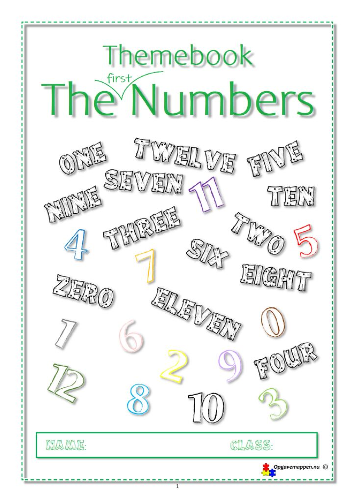 thumbnail of Engelsk – The First Numbers from 0-12 – 8 sider opgavehæfte – opgavemappen.nu videre