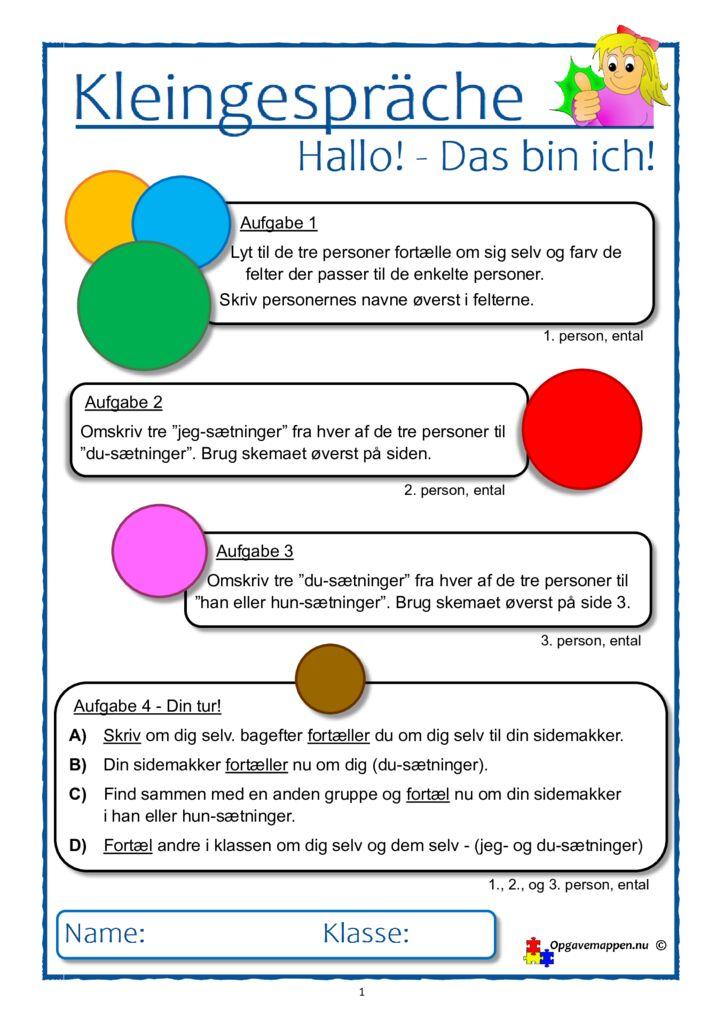 thumbnail of Kleingespräche 1 – Hallo – Das bin ich – opgavemappen.nu.pub