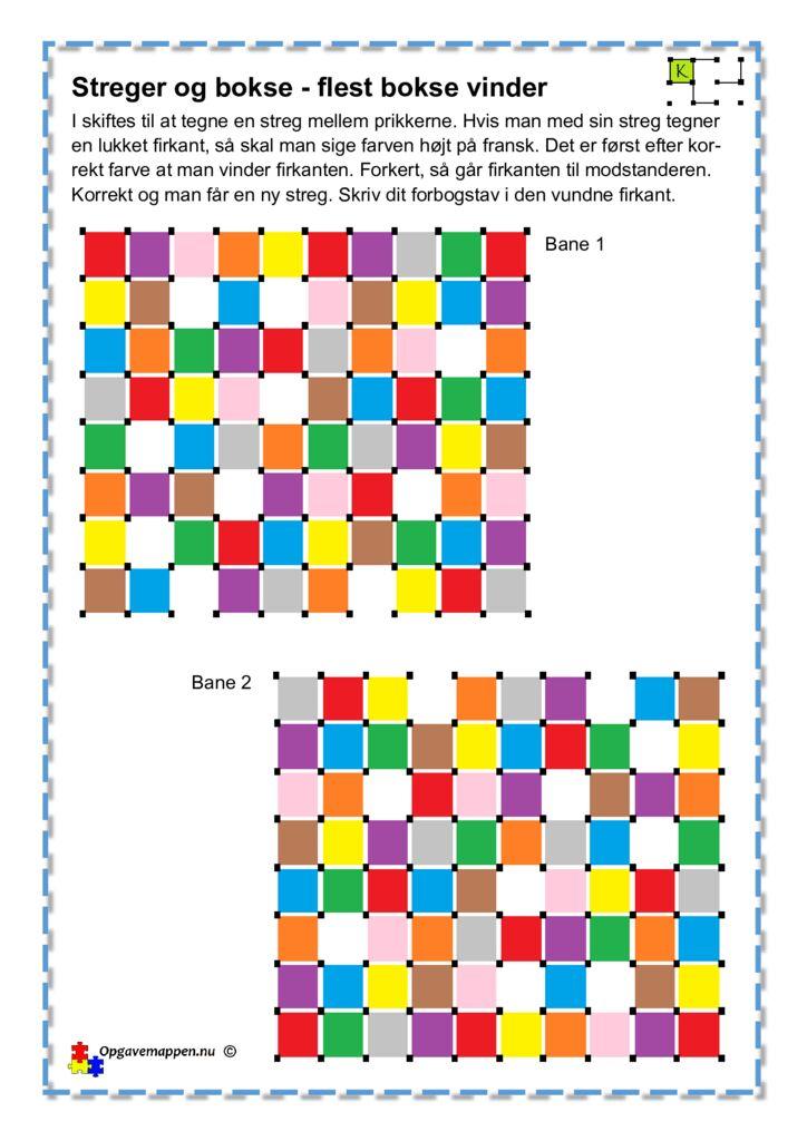 thumbnail of Fransk – Farverne – Streger & Bokse 1 – opgavemappen.nu