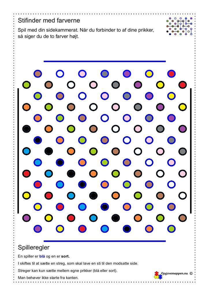 thumbnail of Stifinder med farverne – opgavemappen.nu