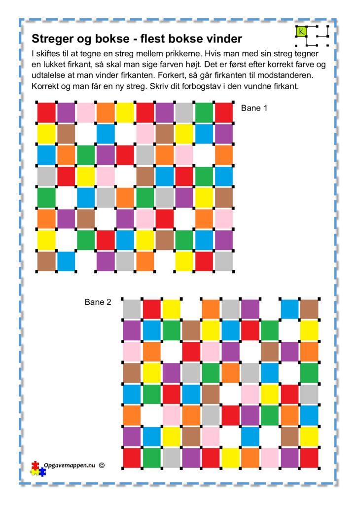 thumbnail of Tysk – Engelsk – Fransk – Farverne – Streger & Bokse 1 – opgavemappen.nu