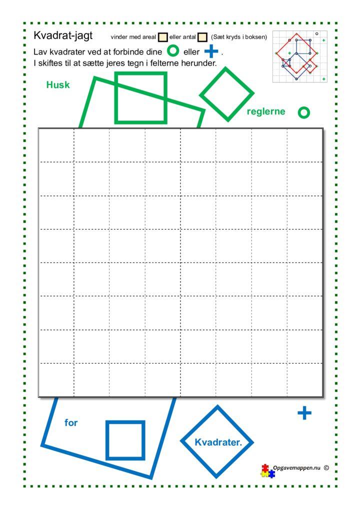 thumbnail of Matematik – Kvadret-jagt – opgavemappen.nu